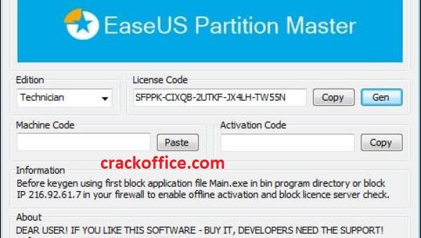 EaseUS Partition Master 13.8 Crack incl License Code 2020 Here